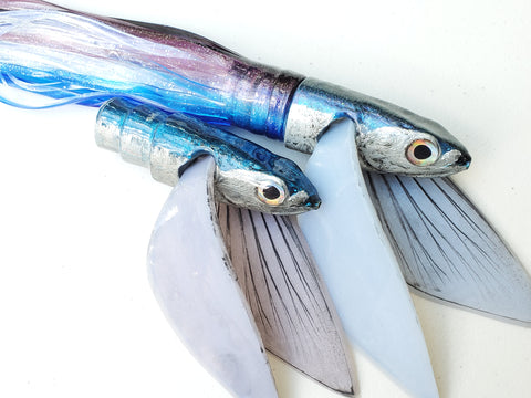 "Niiyama Lures Blue Back Flying Fish Silicone Wings 12"" 12oz"