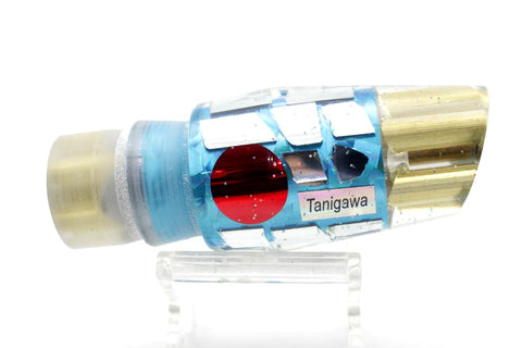 "Tanigawa Lures Ice Blue Cracked Glass 4-Hole Reverse Cut Face 9""+ 8oz"