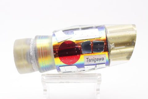 "Tanigawa Lures Rainbow Cracked Glass 4-Hole Reverse Slant 9""+ 8oz"