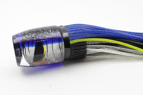 "Amaral Lures Silver Rainbow Blue-Black Evil Eyes Jararaca 12"" 4oz"