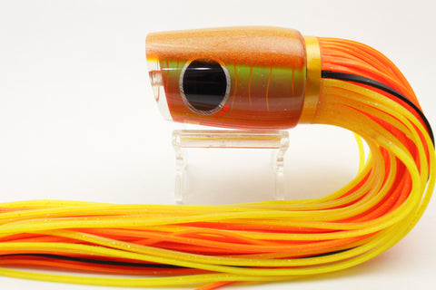 "Amaral Lures Orange Rainbow-UV Yellow Diamondback 14"" 7oz"