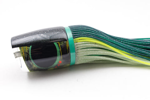 "Amaral Lures Marbled Black-Yellow Dark Green Back Ta'aroa 16"" 9oz"