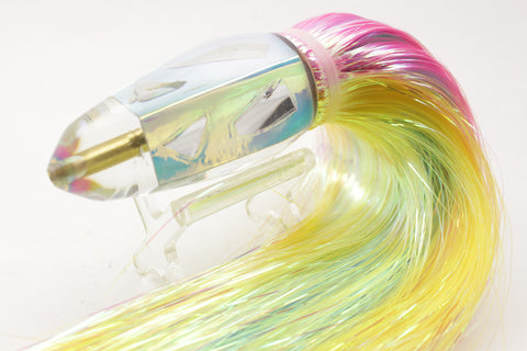 "Koya Lures Ice Rainbow Cracked Glass Koya Bullet 9"" 7.5oz Flashabou #1"