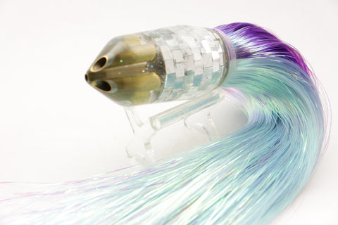 "Tanigawa Lures Mirrored Disco Ball 4-Hole Bullet 9""+ 9oz Flashabou #4"