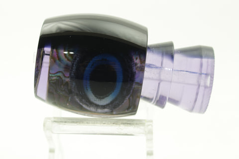 "Moyes Lures Purple Paua Black Back Blue Taxi Eyes Large Secret 12"" 4oz"