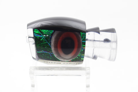 "Moyes Lures Green-Blue Oil Slick Black Back Taxi Eyes Small Blaster 10"" 3oz"