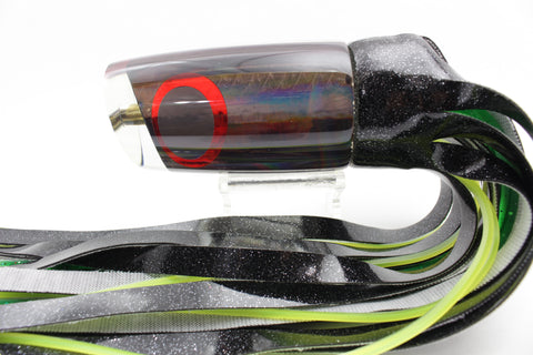"Koya Lures Black Rainbow JP Large Lunger 14"" 9oz Vinyl Skirted"