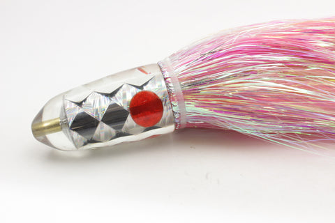 "Ganku Lures ""Ganku Special"" Cracked Glass Long Bullet 9"" 7oz Flashabou #1"
