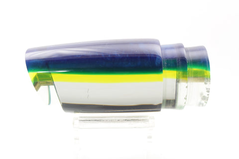 "Koya Lures Mirrored Blue-Chartreuse Back Straight Runner 12"" 6oz"