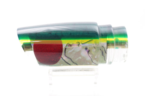"Koya Lures White Abalone Green-Chartreuse Back Straight Runner 12"" 6oz"