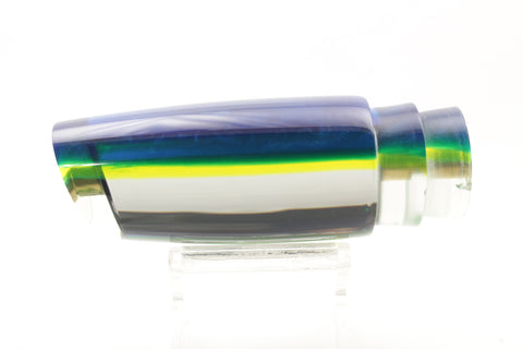 "Koya Lures Mirrored Blue-Chartreuse Back Small 614 10"" 5oz"