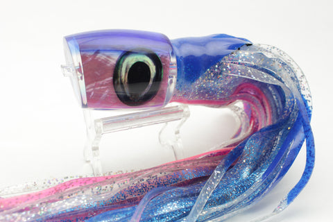 "Moyes Lures Pink MOP Blue Back Medium J-Boy 12"" 7oz Skirted"