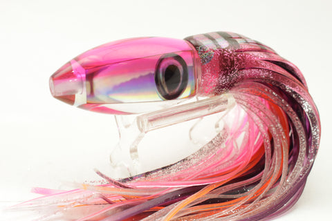 "Moyes Lures Rainbow Pink Back Ono Bullet 7"" 4.5oz Skirted"