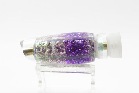 "Ganku Lures Purple/Silver ""Geode"" Longneck Cut Face 7"" 2oz"