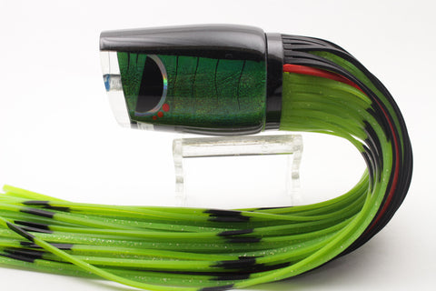 "Amaral Lures Holographic UV Green-Black Diamondback 14"" 7oz"