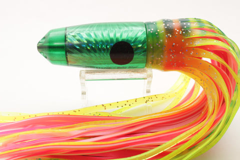 "Marlin Magic Lures Green Starburst Baby Blue Jet 9"" 10oz Skirted"
