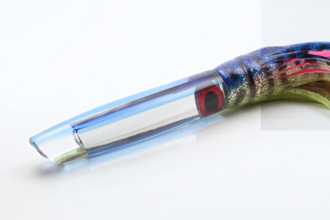 "Coggin Lures Mirrored Transparent Blue Back #1 Pencil Stick Swimmer 5.5"" 2oz"