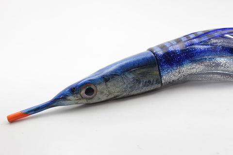 "Niiyama Lures Blue Back Ballyhoo 9"" 8.5oz Skirted"