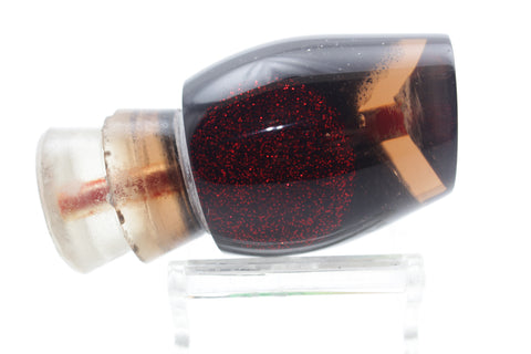 "Doxey Lures Smokey Red Glitter Eyes Medium Pewee Cup 9"" 2.5oz"