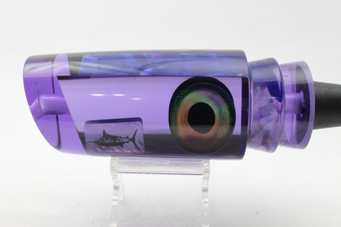 "Aloha Lures Purple Mirror Purple-Blue MOP Back Rattle Smash Bait 14"" 10.2oz"