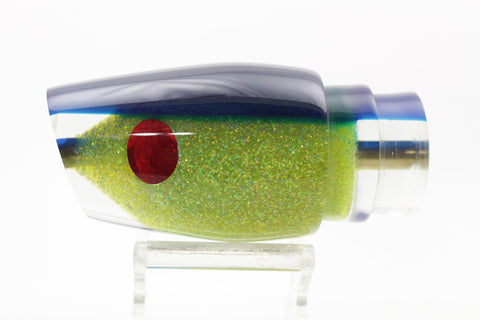 "Koya Lures/Niiyama Lures Chartreuse Glitter Pearl Fish Head Medium 861 12"" 6oz"