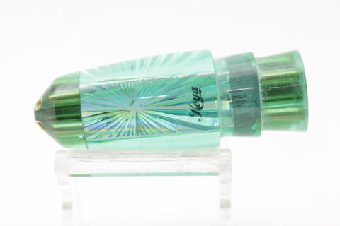 "Koya Lures Dorado Green Starburst 4-Hole Regular Bullet 7"" 3.5oz"