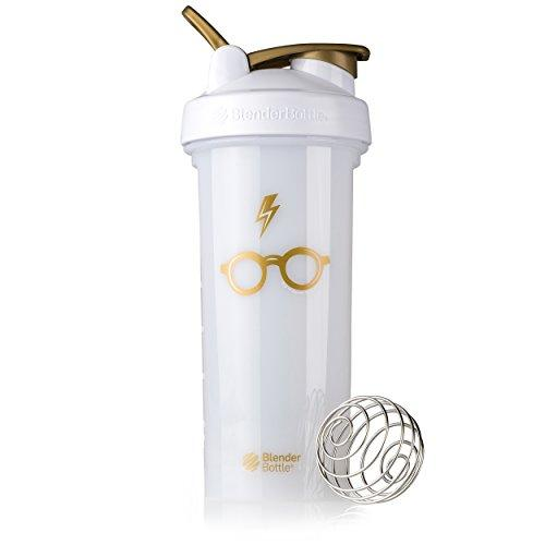 BlenderBottle Harry Potter Pro Series 28-Ounce Shaker Bottle, Bolt & Glasses