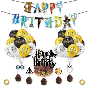 Harry Potter Cupcake Toppers Wizard Birthday Party Decorations