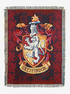 HARRY POTTER GRYFFINDOR CREST TAPESTRY THROW BLANKET