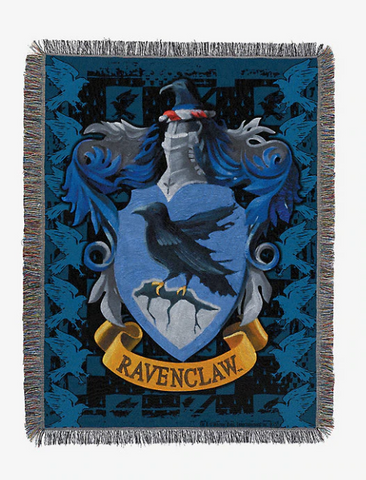 HARRY POTTER RAVENCLAW CREST THROW BLANKET
