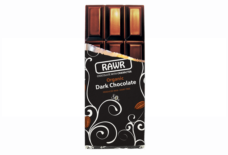 RAWR fair-trade organic dark chocolate bar 80%