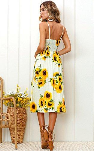 floral yellow boho dress