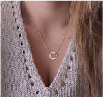 Bohemian circle necklace