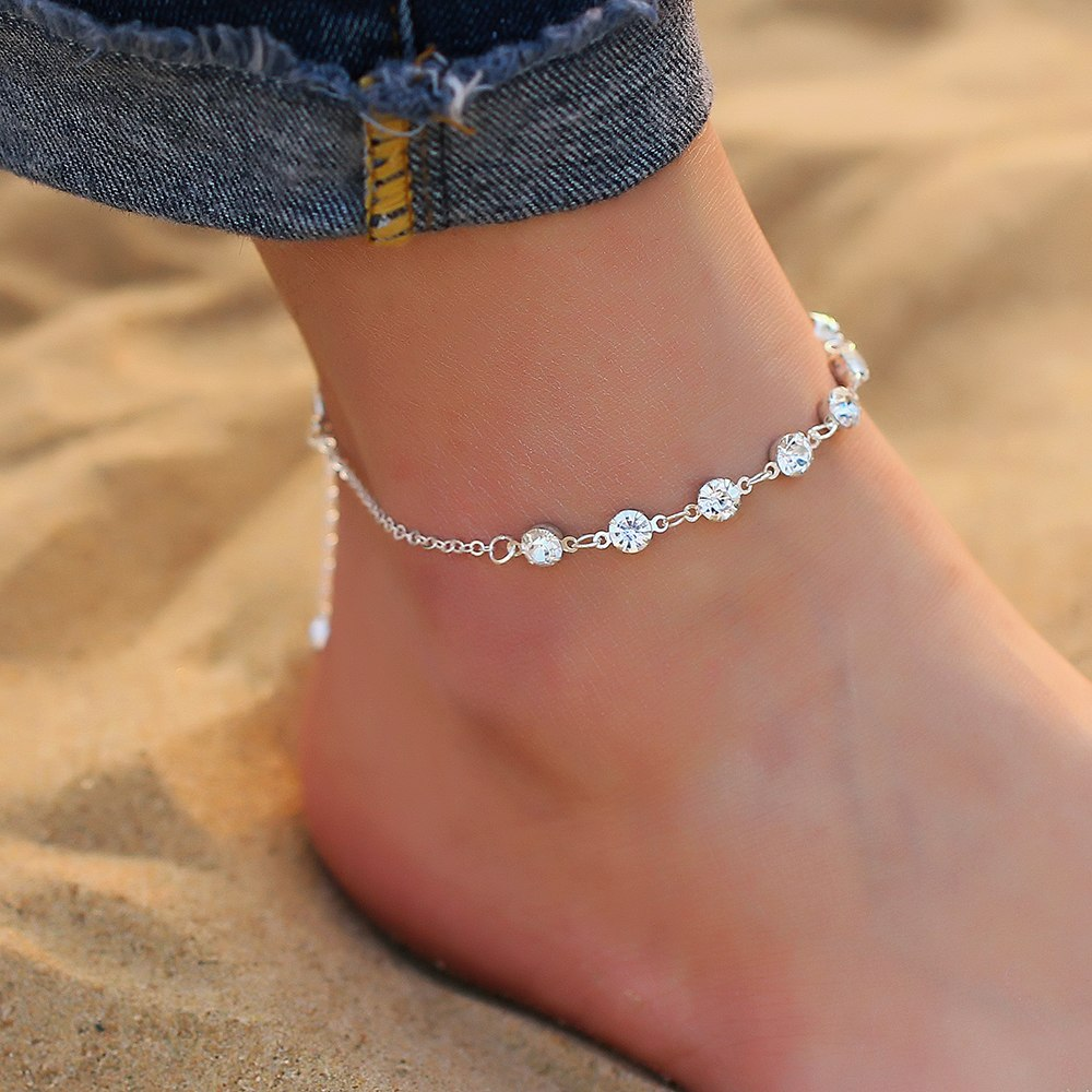 Bohemian Crystal Anklets
