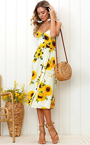 bohemian yellow dress