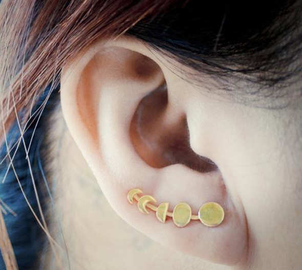 Moon Phase Ear Climber