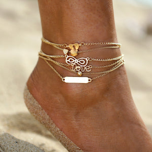 Bohemian Infinity Love Anklet