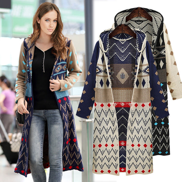 knitted bohemian cardigan