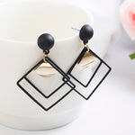 Geomertric Black Statement Earrings