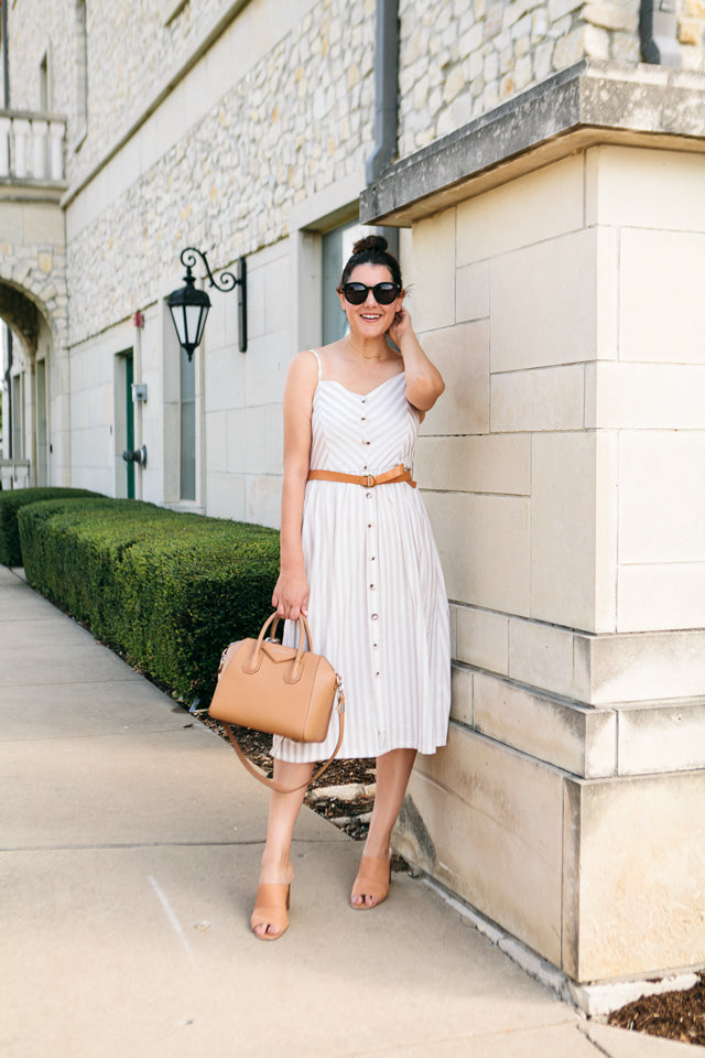 Striped With Passion Midi Dress