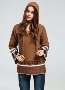 Hooded Bohemian Sweater