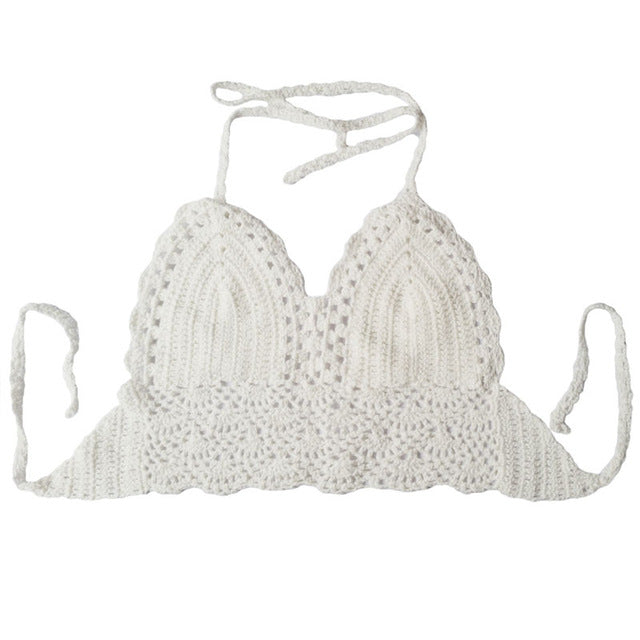 Crochet Lace Knitted Bra