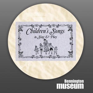 Historic Folk Toys: Book, 'Children's Song-Sing & Play'