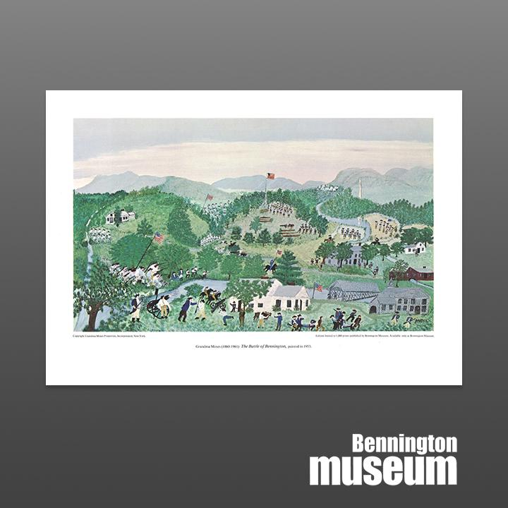 Grandma Moses: Unframed Print, 'Battle of Bennington'
