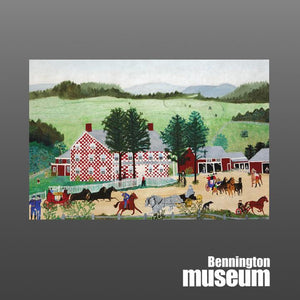 Grandma Moses: Postcard, 'Old Checkered House'