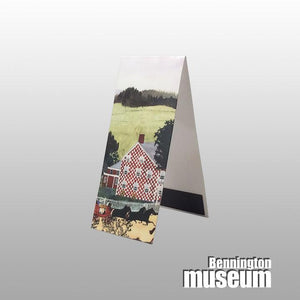 Grandma Moses: Magnetic Bookmark, 'Checkered House'