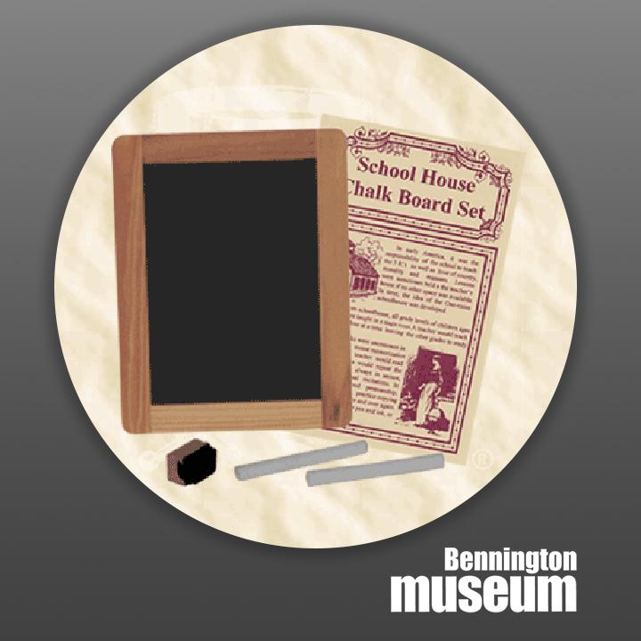 Historic Folk Toys: Desk, 'Schoolhouse Chalkboard Set'