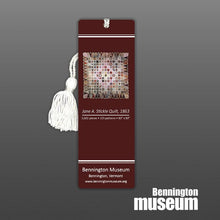 Jane Stickle: Bookmark with Tassel, 'Burgundy & White'