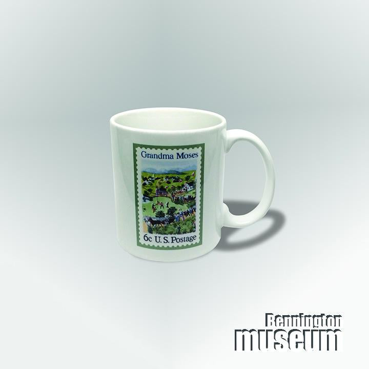 Grandma Moses: Mug, 'Stamp/Life is ...'