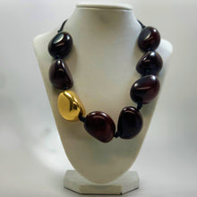 BELART: Necklace; Tagua Colored with Gold Leaf